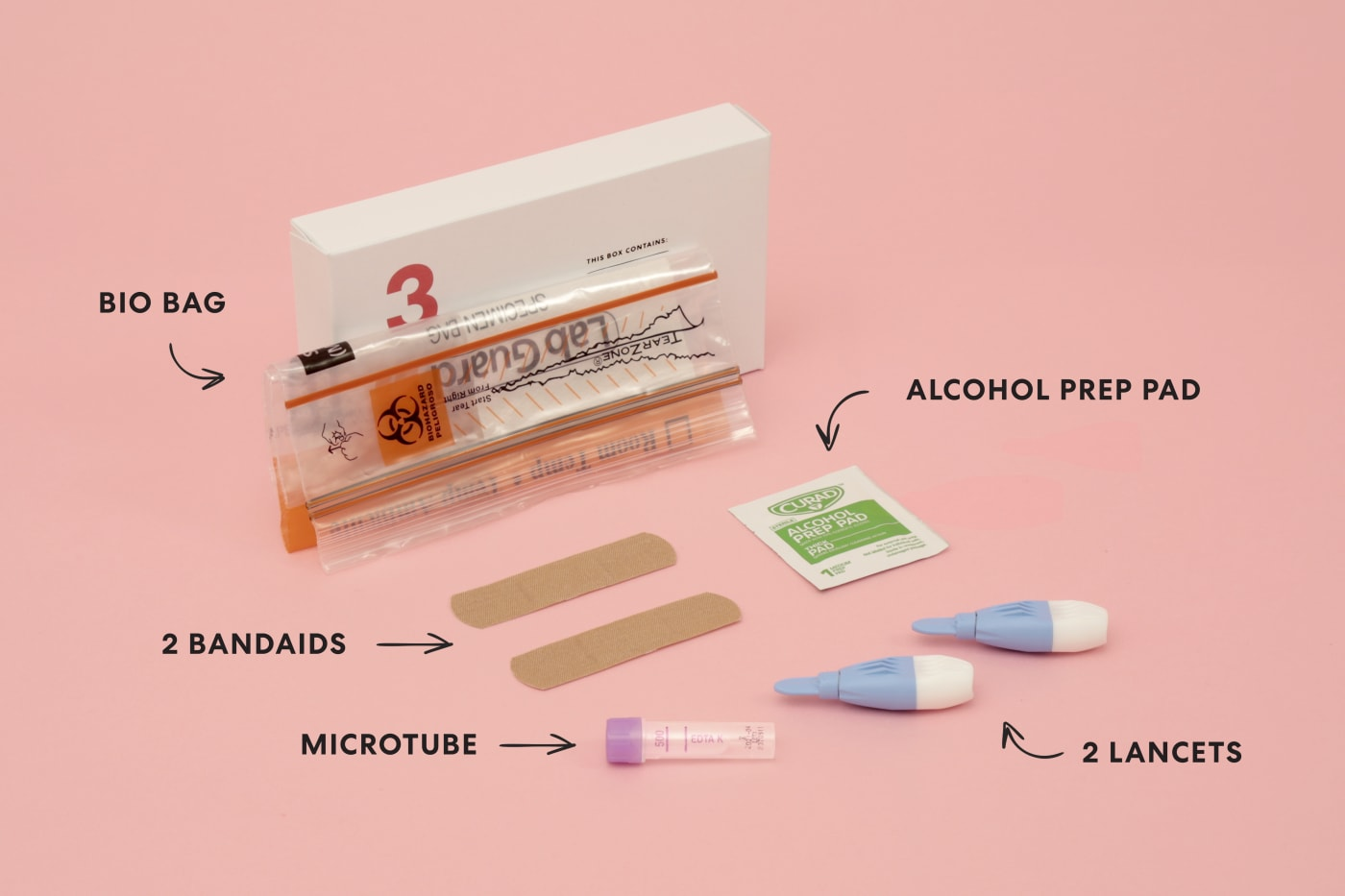 items in test kit