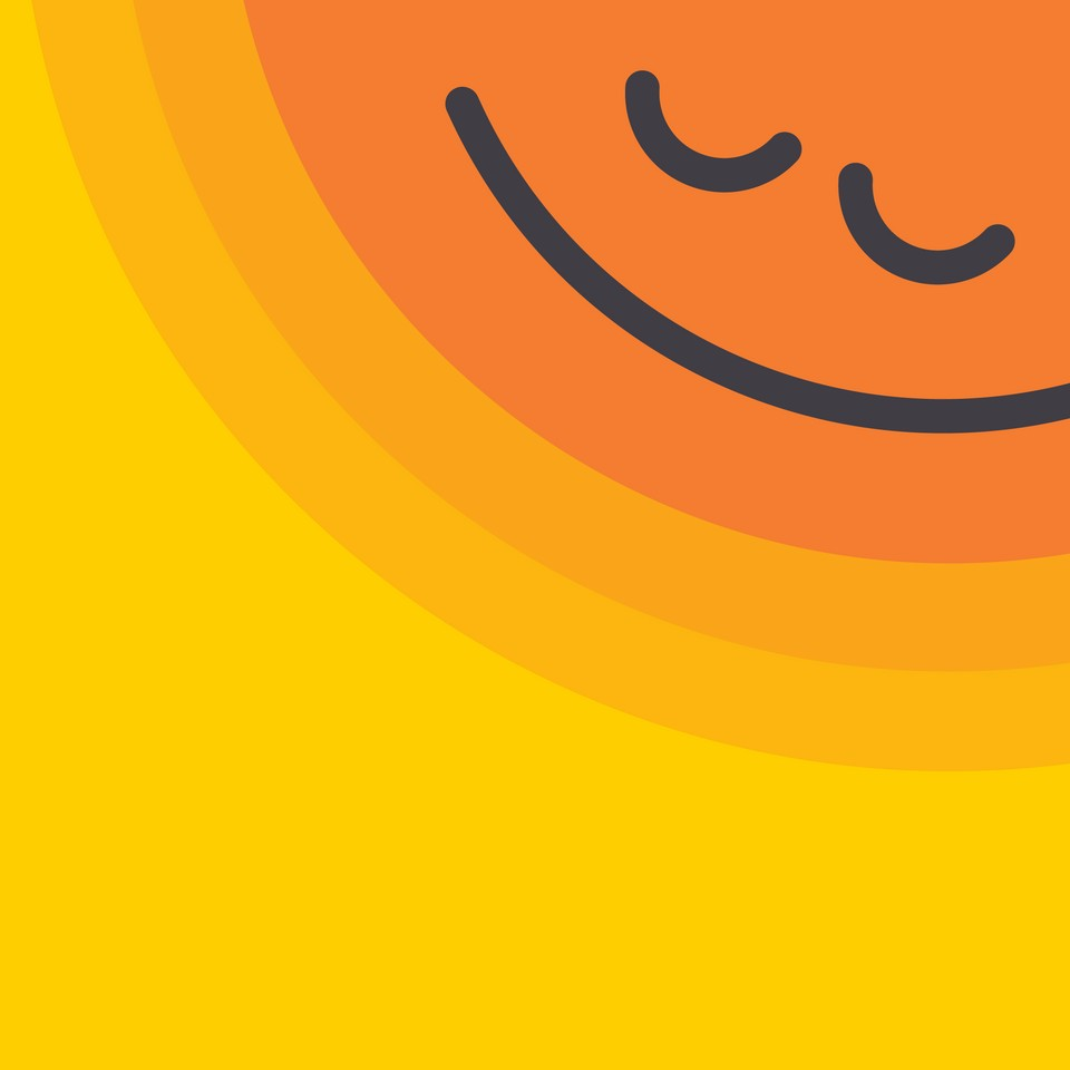 sun icon with smile face