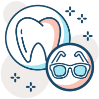 dental and vision discount icon
