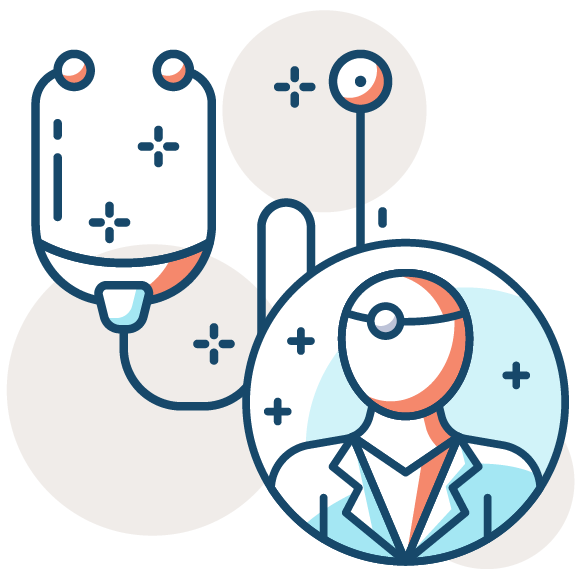 doctor icon with stethoscope
