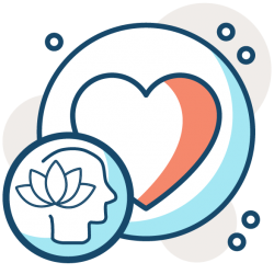 icon of mental health healthy heart