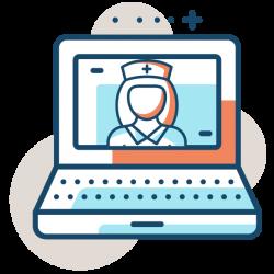 telemed icon nurse laptop